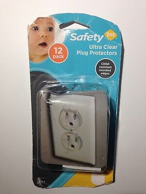 Safety 1st 12 Pack Ultra Clear Outlet Plugs Baby Safe Protector