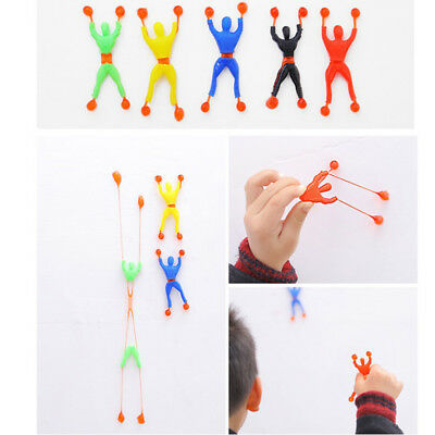 Lot 6pcs Sticky Wall Climbing Climber Men Kid Toy Funny Favors Supplies Gift New