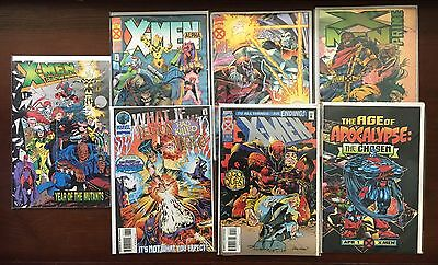 X-Men AGE OF APOCALYPSE 1995 Crossover complete set Marvel Comics LOT 43 issues