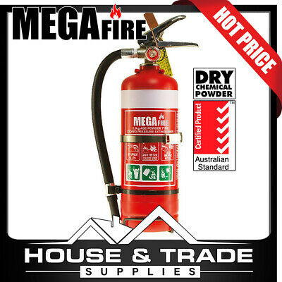 MegaFire Fire Extinguisher Portable 2.0kg DRY CHEMICAL POWDER MF20ABE