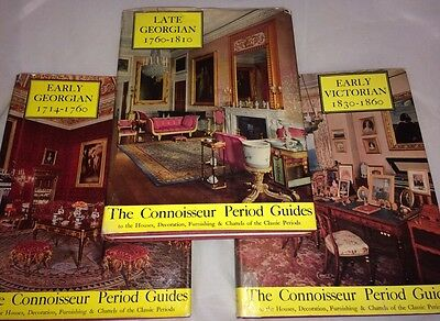 "3 VOLUMES ""The Connoisseur's Period Guides""-LATE+EARLY GEORGIAN+EARLY VICTORIAN"