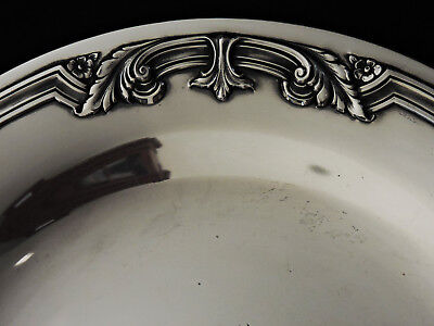 Sterling silver tray, Towle, 1937, current-13th sqd, Air Force B2 stealth bomber