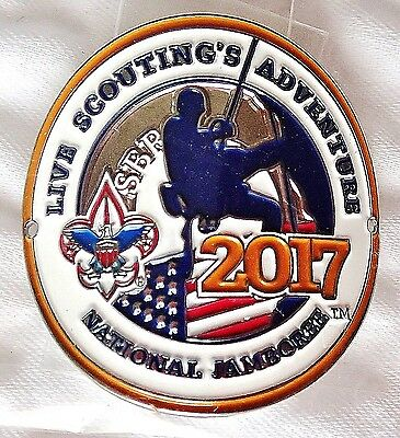 Official 2017 National Boy Scout Jamboree Hiking Staff Medallion Not Patch