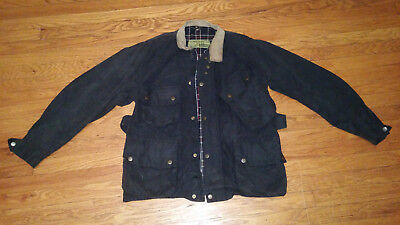 1950's Barbour International Suit Waxed Motorcycle Jacket Size M Aero Zips