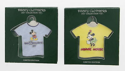 Lot of 2 New DISNEY Clothiers Collection Limited Edition Pins