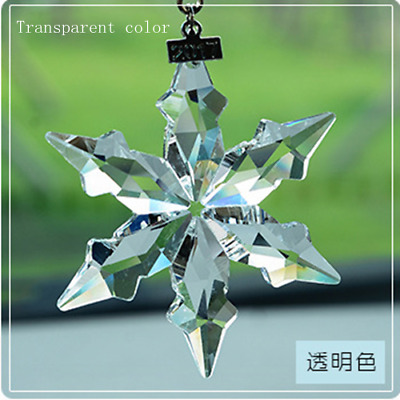 2017 Annual Edition New six petals snowflake Large Christmas Ornament Crystal Us