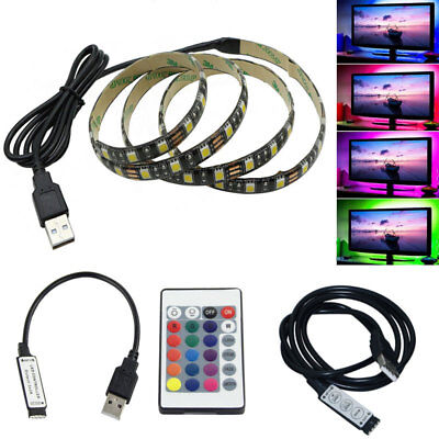 USB 0.5M/1M/2M/3M/5M LED Strip Light 5050 SMD TV Background Computer Waterproof