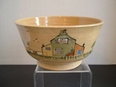 1979 Left Handed Russell Henry ~ Haycreek Pottery Village Bowl ~ Russel's House