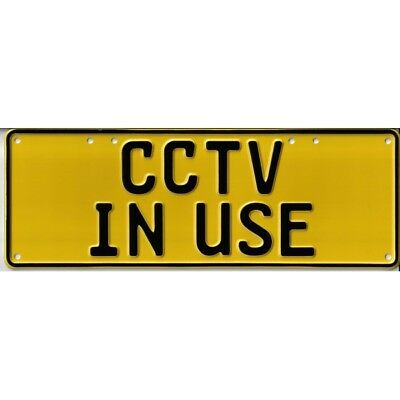 Australian Novelty Tin Number Plate CCTV IN USE 380mm x 130mm BNWT