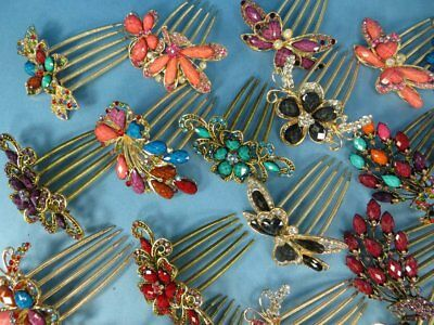 US Seller-lot of 20 wholesale vintage back French hair comb Wedding Hair piece