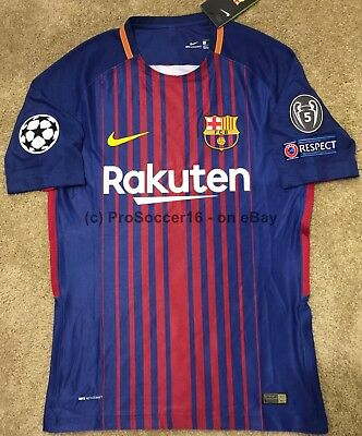 half off a1d25 45ac0 2017/18 FC BARCELONA Home Vapor Kit -UEFA Champions League - Player issue-  NEW!