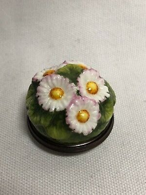 Halcyon Days Enamel Daisy Emblem of Innocence Trinket Box
