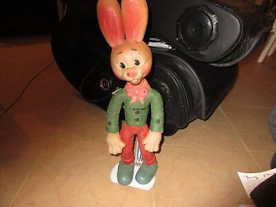 antique 1914  made in england  old bendy bunny toy