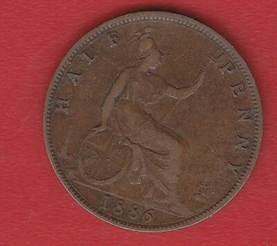Great Britain Half Penny 1886