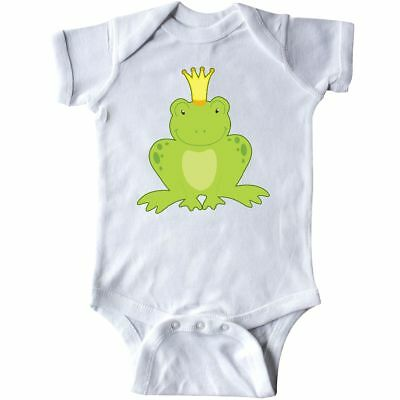 Inktastic Frog Prince Infant Creeper Kiss Me Handsome Love Frogs Charming Crown