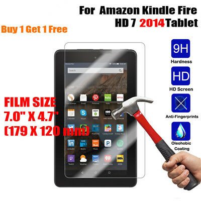 100% Genuine 9H Tempered Glass Screen Protector For Amazon Kindle Fire HD 7 8 10