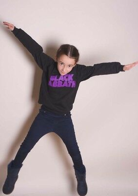 NEW Black Sabbath Kids Youth's Fit Sweatshirt: Wavy Logo (7 - 8 Years (Large))