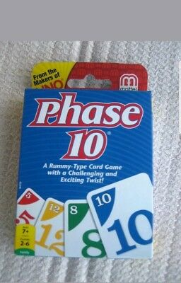 Phase 10 Classic Card Game Brand New -UNO  A Rummy Type Game With A Twist