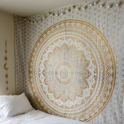 Square Indian Blanket Tapestry Mandala Wall Hanging Beach Throw Hippie Bedspread