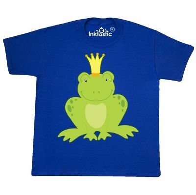 Inktastic Frog Prince Youth T-Shirt Kiss Me Handsome Love Frogs Charming Crown