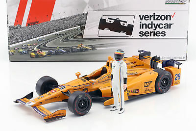 Fernando Alonso Honda #29 Indy 500 2017 mit Figur 1:18 Greenlight