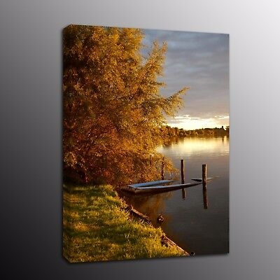 Canvas Prints Painting Picture Wall Art for Living Room Autumn scenery