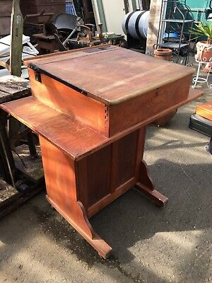 Vintage wooden school Desk.