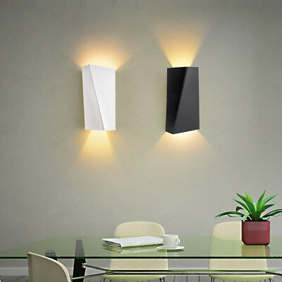 New 10W Modern LED Wall Light Up Down Cube Indoor Outdoor Sconce Lighting Lamp
