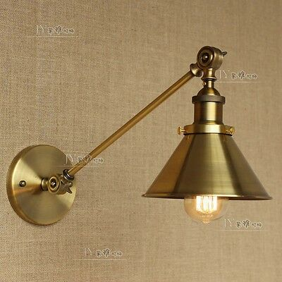 NEW 20TH C. Library Swing Arm Sconce E27 Light Wall Lamp Home Lighting Fixture