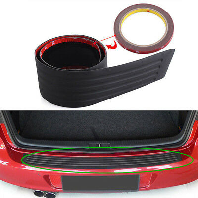 Black Rubber Vehicles Rear Bumper Guard Protection Strip Trim Cover Pad For Car