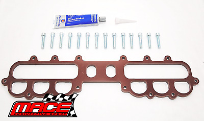 12Mm Upper Manifold Insulator Kit Ford Falcon Au Intech Hp Vct & Non Vct 4.0L I6