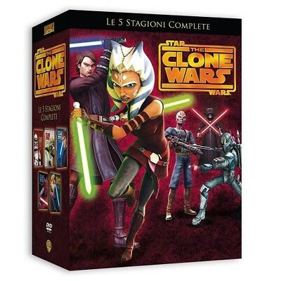 Star Wars: The Clone Wars - Cofanetto - Stagioni Da 1 A 5 (20 Dvd) Nuovo, Ita.