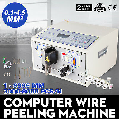 Computer Wire Peeling Stripping Cutting Machine 0.1-4.5mm² Electrical  10000mm
