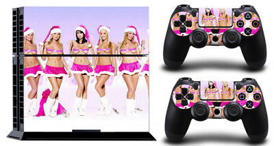 Christmas GIRL 037 DECAL SKIN PROTECTIVE STICKER for SONY PS4 CONSOLE CONTROLLER