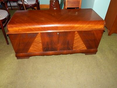 Vintage Waterfall Cedar Chest with inside drawer