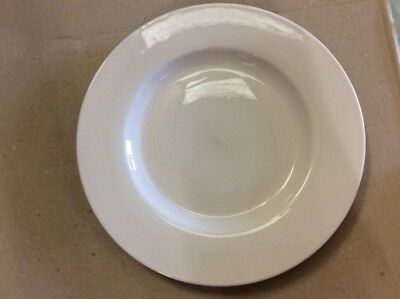 """30 x White Wide Rimmed Plate 10"""" Plates Professional Hotelware BS4034 Joblot"""
