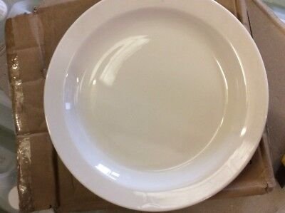 """36 x White Narrow Rimmed Plate 10"""" Plates Professional Hotelware BS4034 Joblot"""