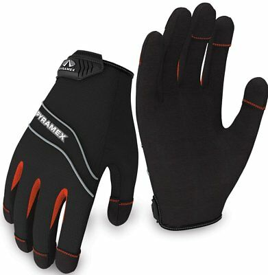 Pyramex Safety GL101 Light Duty Work Gloves w/ Touch Screen Function, S - XXL
