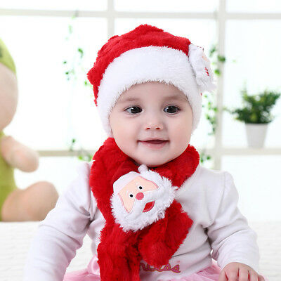 Two-piece Baby Christmas Hat and Scarf Set Xmas Festival Soft Clothing Accessary