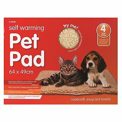 Self Heating Pet Bed with a super soft machine washable cover UK