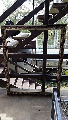 Stunning Extra Large Wide Mirror Frame Gold & Brown Art Deco (Frame Only)