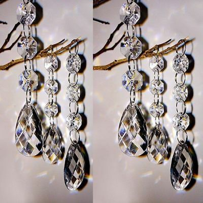 Ceiling Light Hanging Chandeliers Lamp Acrylic Crystal Shade Drops Droplets 30pc