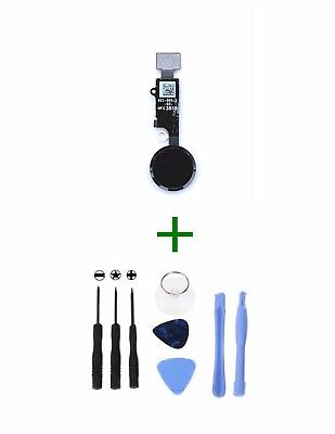 """For iPhone 8 4.7"""" Black Home Button + Tools"""