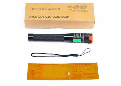 New Fiber Optic Laser Visual Fault Locator Light Source Test Equipment 30km 30mw
