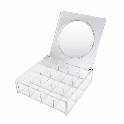 Cosmetics Jewellery Organiser Storage With Mirror Case Beauty Box Stand Clear