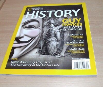 National Geographic History magazine NOV/DEC 2017 Guy Fawkes, Megaliths & more