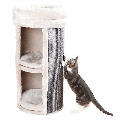 TRIXIE Pet Products Mexia 2-Story Cat Tower, Gray