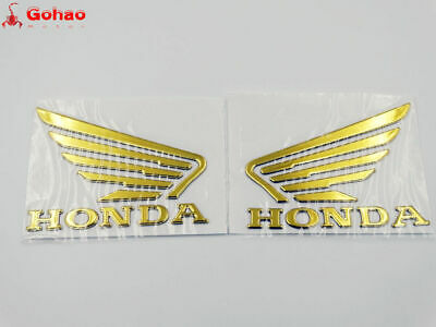 90mm 3D Raise Fuel Tank Badge Fairing Body Emblem Decal Sticker for Honda Wing