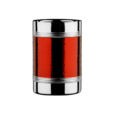 Premier Champagne Wine Bottle Cooler Chiller Ice Bucket with Hammered Red Band