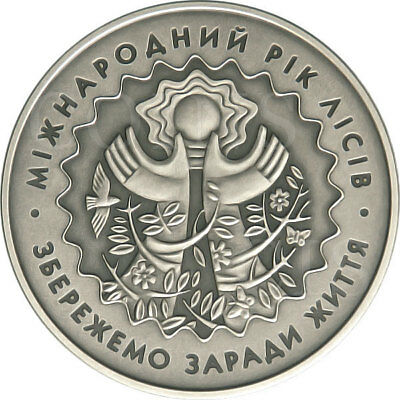 Ukraine 2011 5 UAH International Year of Forests sUNC Silver Coin